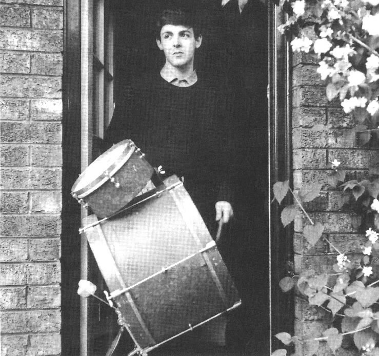 The multi-talented Paul McCartney, circa 1962.