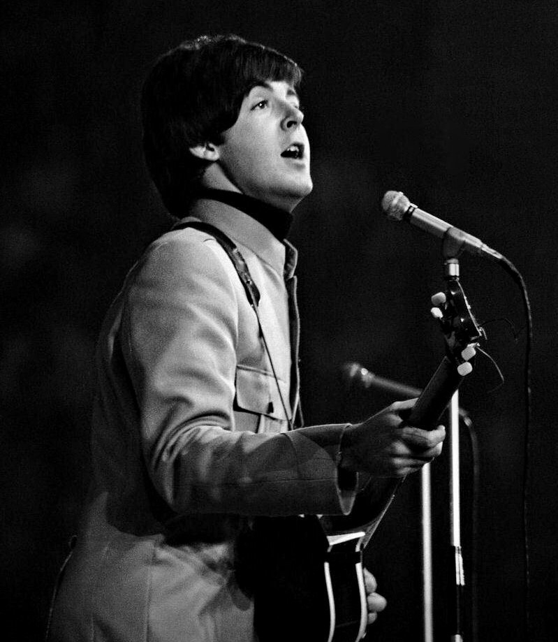 Paul McCartney live in the US, 1965.