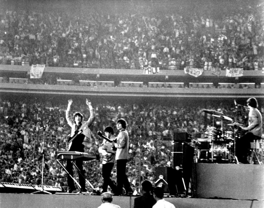 The Beatles at Shea Stadium, August 15th 1965.
