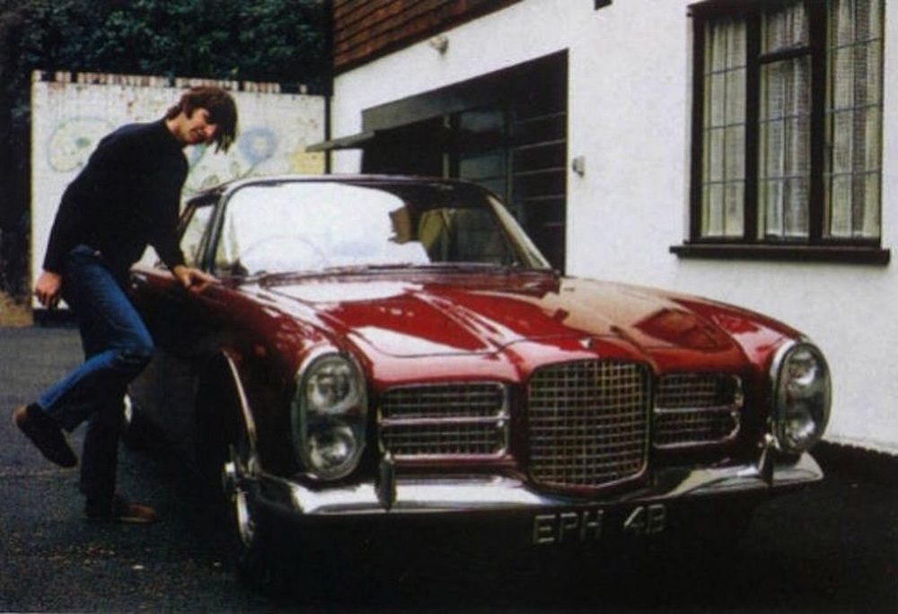 Ringo with his Facel Vega, 1965.