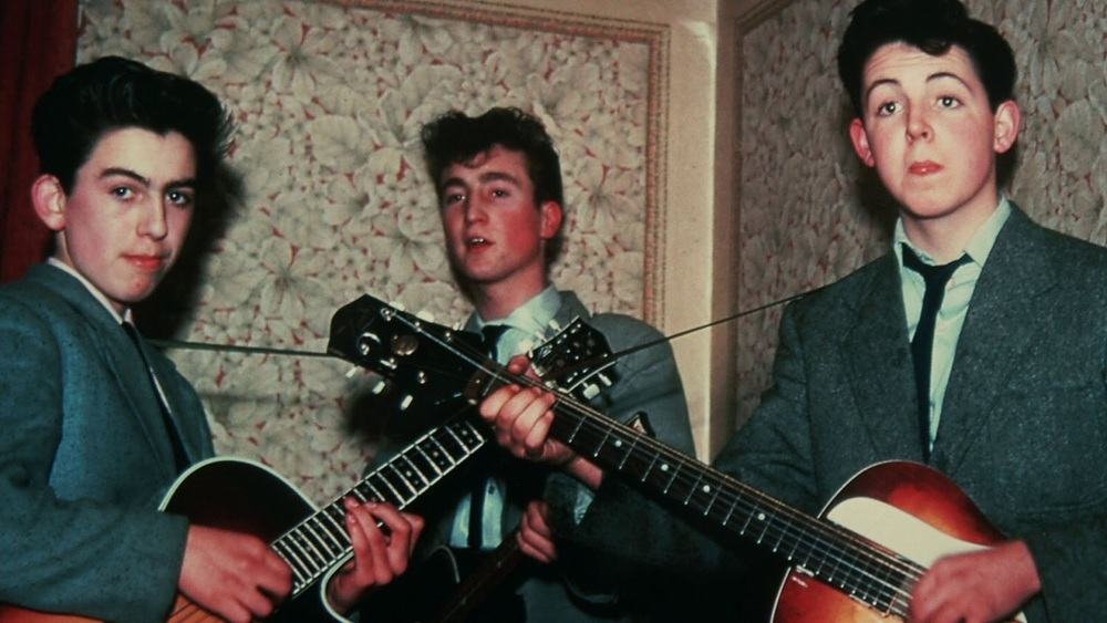 George Harrison, John Lennon and Paul McCartney circa 1958.