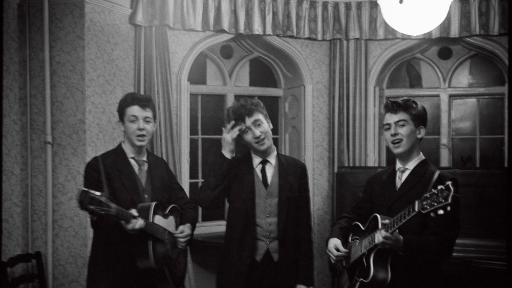 Paul McCartney, John Lennon and George Harrison, circa 1958.