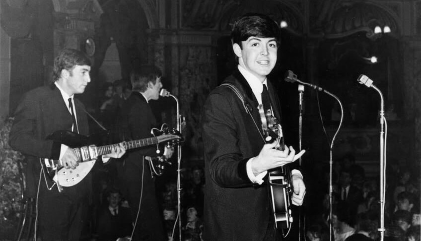 The Beatles on their UK tour of 1963