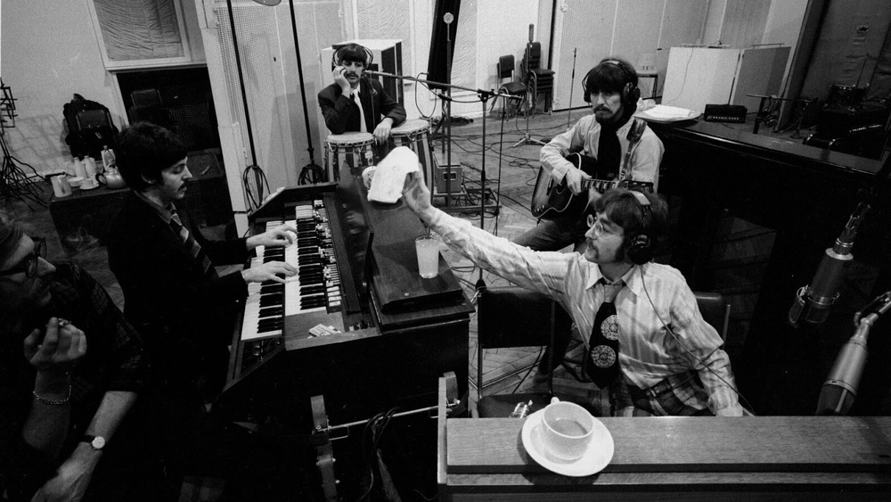 The Beatles recording Sgt. Pepper, 1967.
