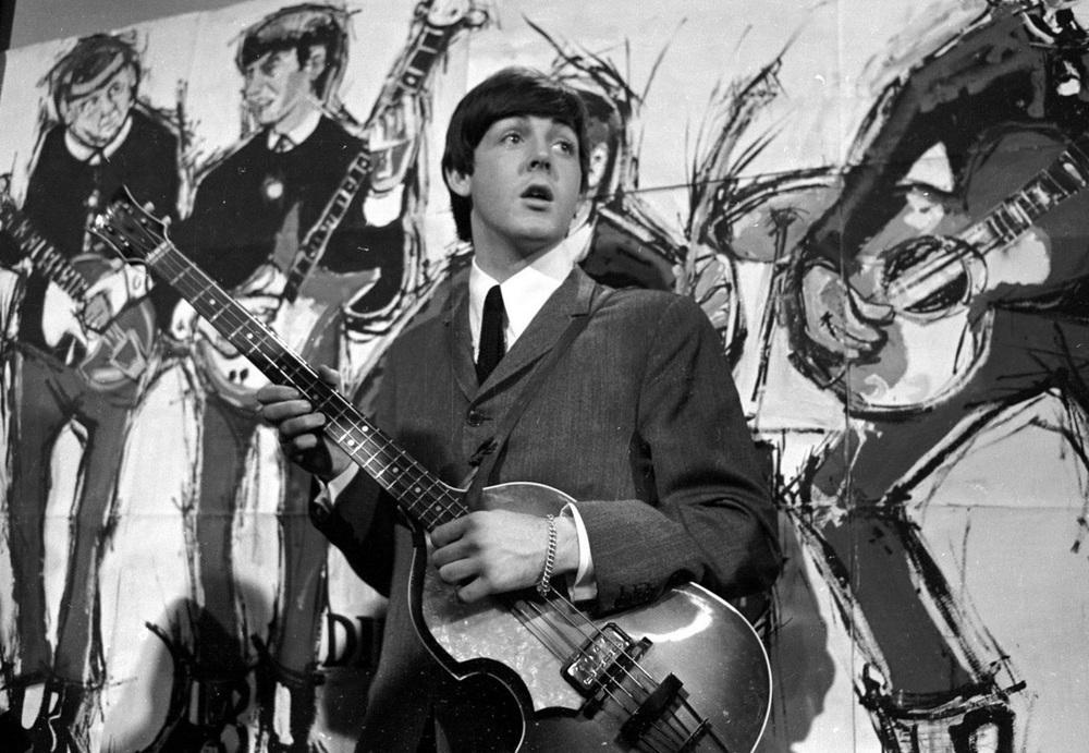 Paul McCartney on Ready, Steady, Go! 1964.