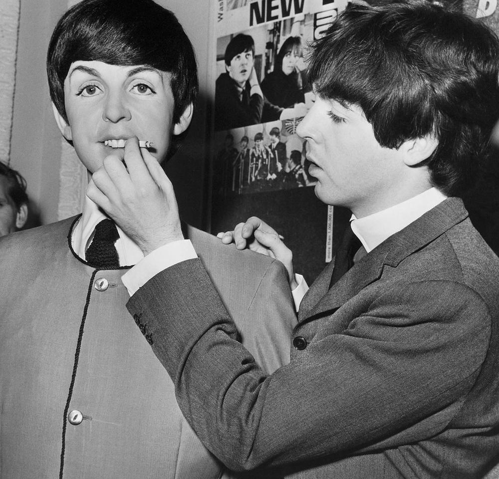 Paul McCartneyat Madame Tussauds, London, April 1964.