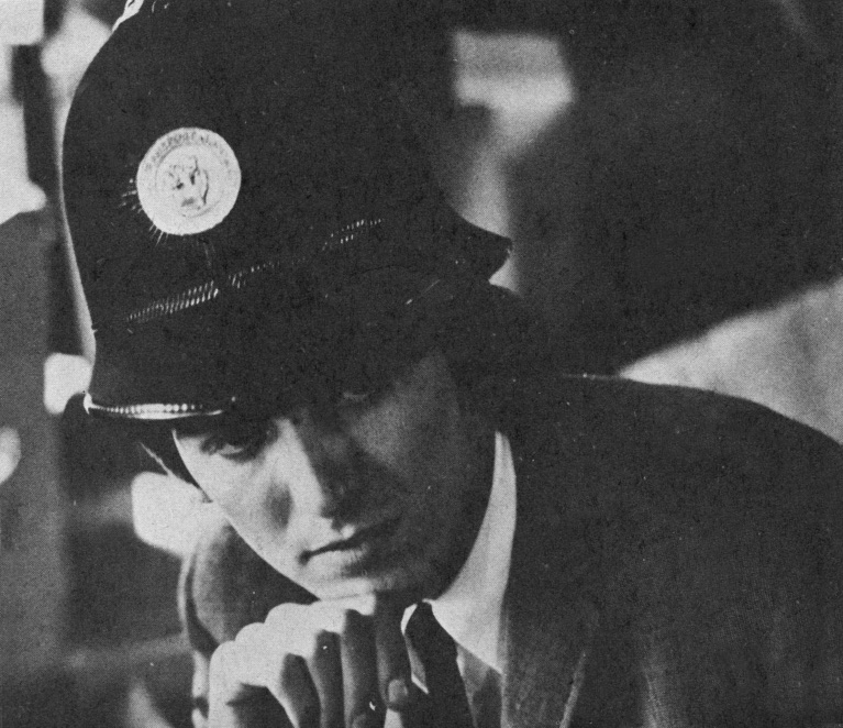 George Harrison dressed as a policeman, circa 1964.