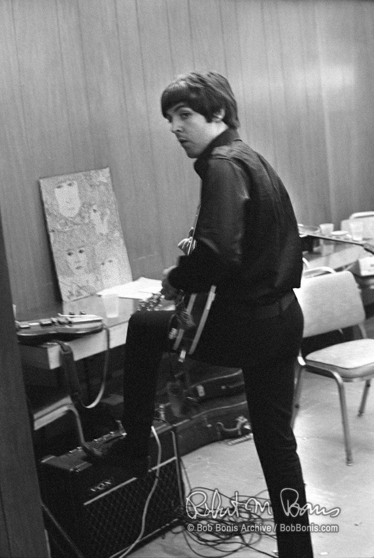 Paul McCartney in America, 1966. Photo by Bob Bonis.
