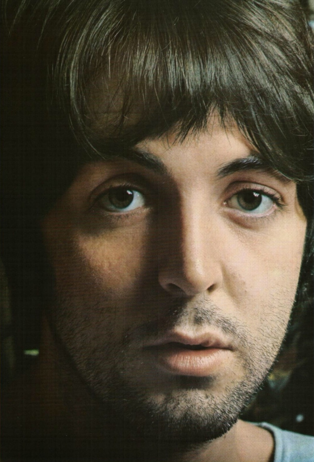 Paul McCartney photographed for the White Album, 1968.