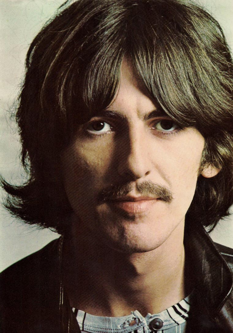 George Harrison photographed for the White Album, 1968.