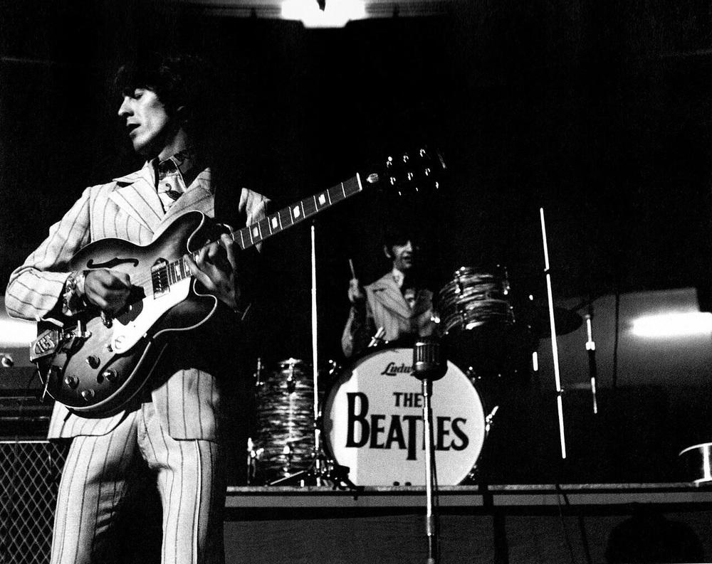 George Harrison and Ringo Starr in America, 1966.