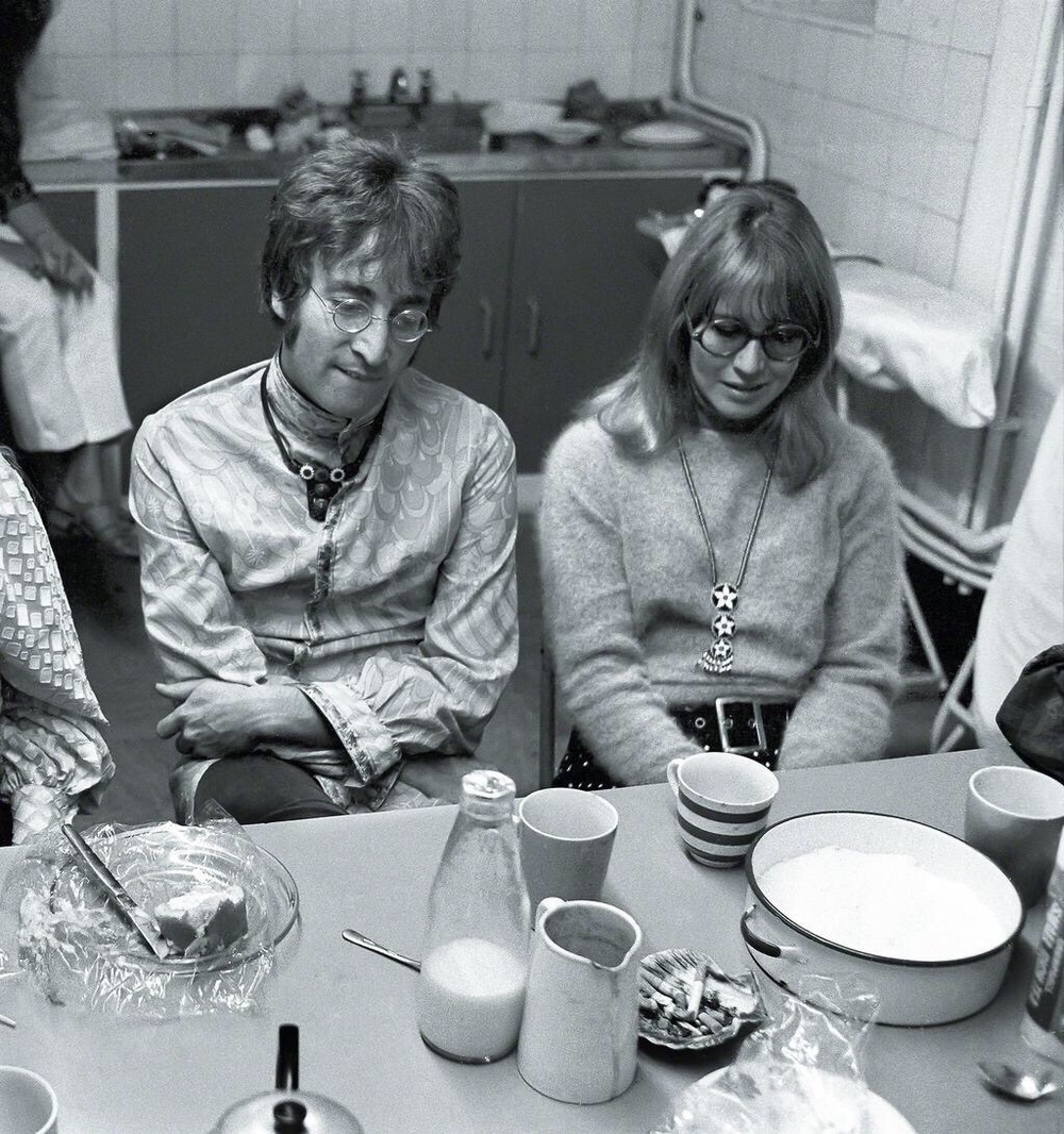 John and Cynthia Lennon in Bangor, Wales, August 1967.
