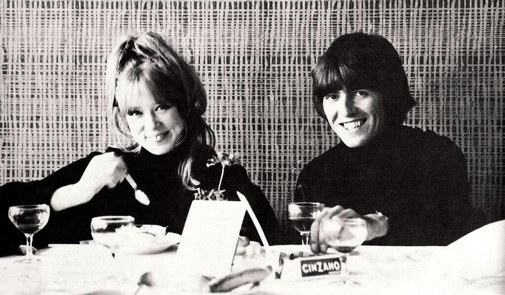 George Harrison and Pattie Boyd, circa 1965.