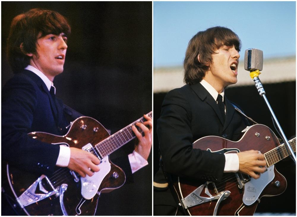 George Harrison live, circa 1965.