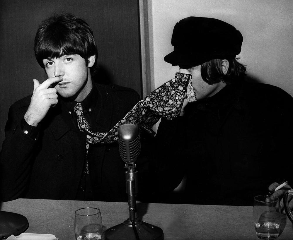 John Lennon and Paul McCartney, 1965.