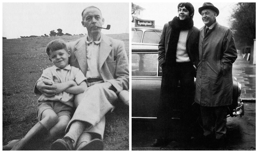 Paul McCartney with his father Jim.
