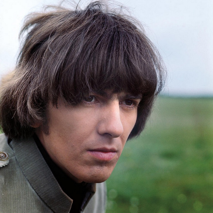 George Harrison filming Help! on the Salisbury Plain, 1965.