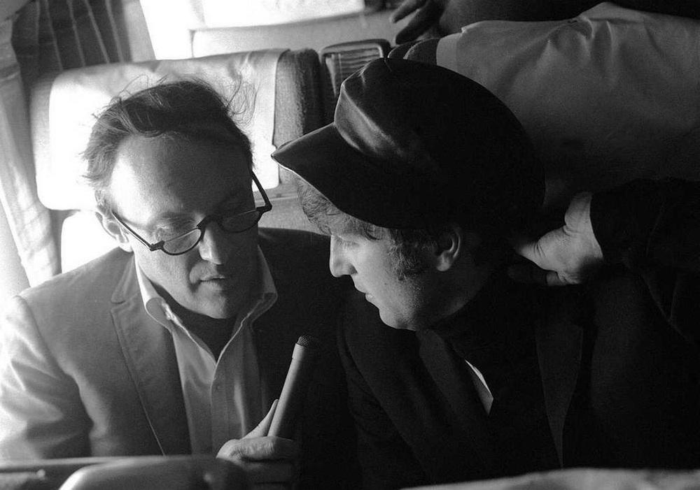 John Lennon being interviewed in America, 1964.