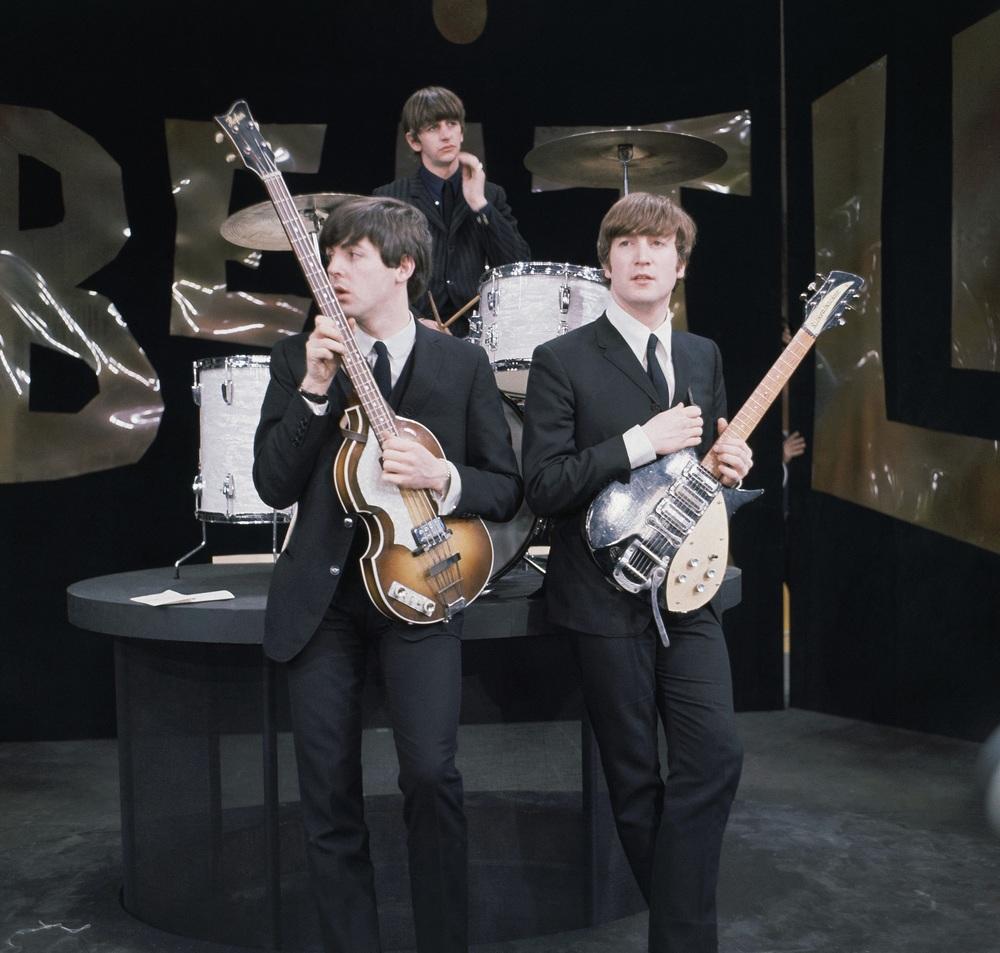 John Lennon and Paul McCartney, 1964.