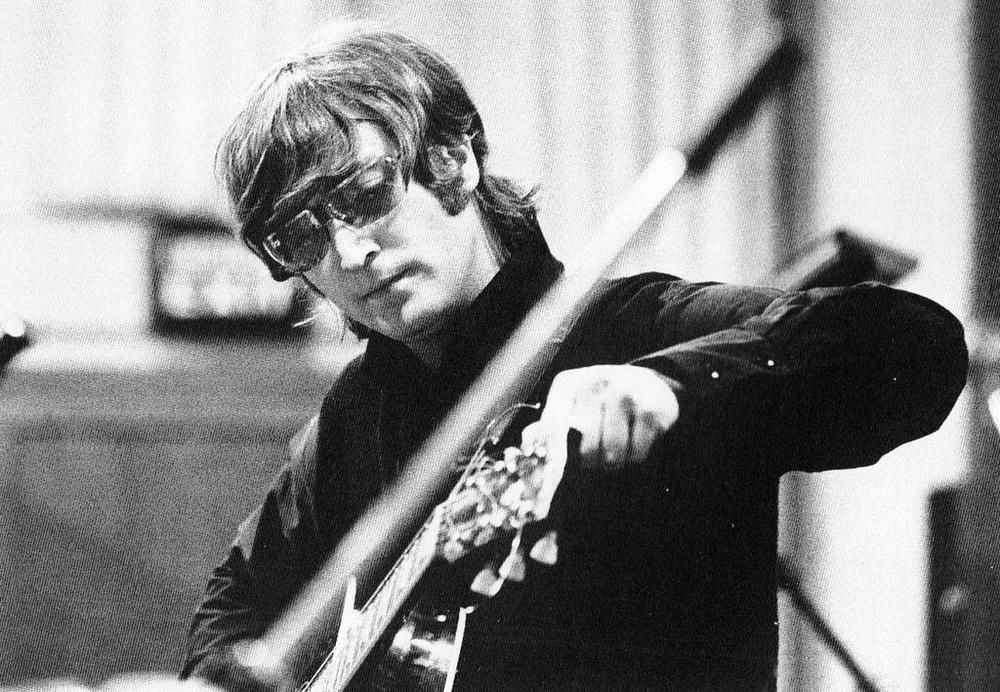 John Lennon recording Revolver, 1966.
