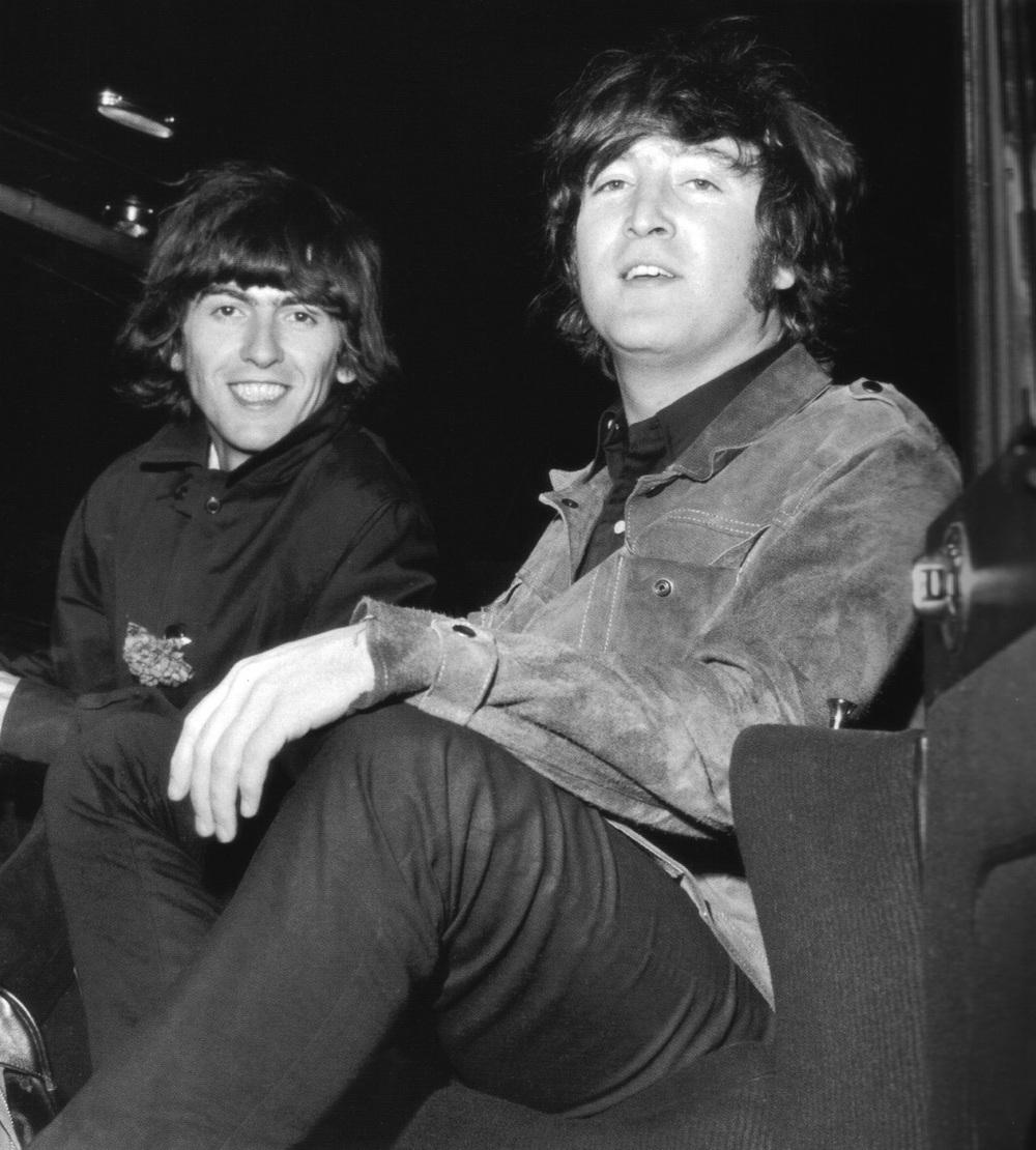 George Harrison and John Lennon, 1965.