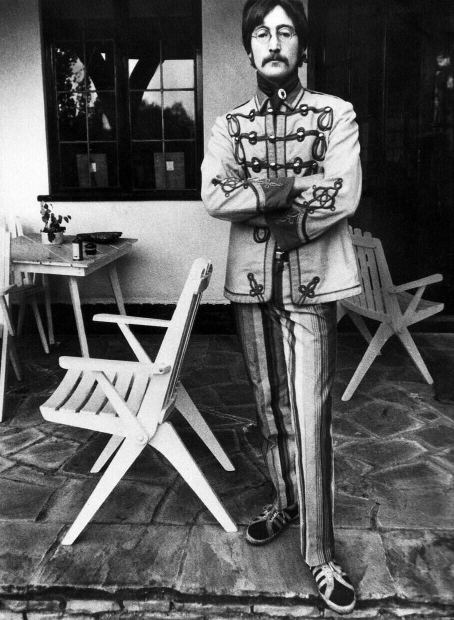 John Lennon at his home in Weybridge, 1967.