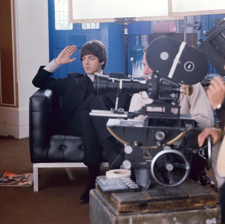 Paul McCartney on the set of Help! 1965.