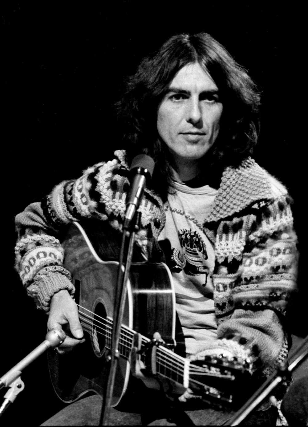 George Harrison on Saturday Night Live, 1976.