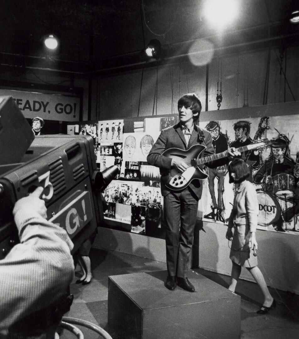 George Harrison on Ready, Steady, Go! 1964.