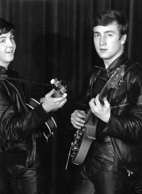 John Lennon and Paul McCartney, circa 1961.