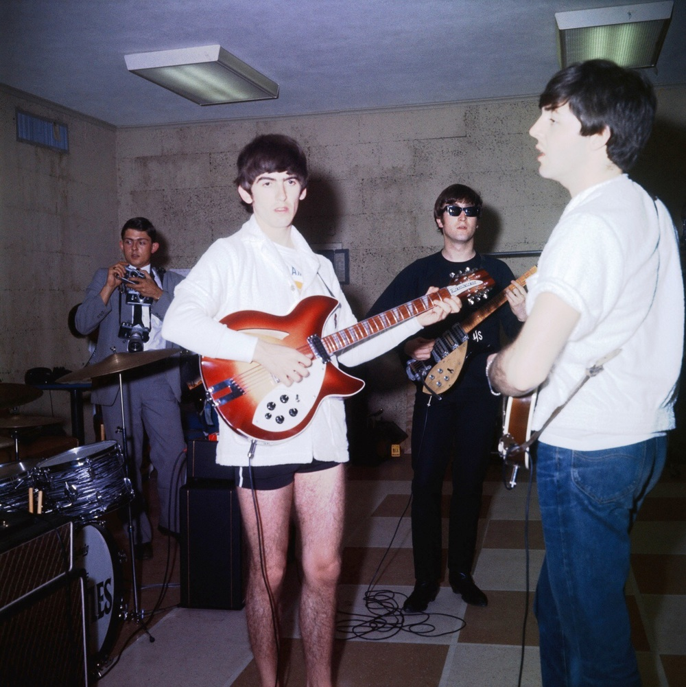 The Beatles rehearsing in Miami, 1964.