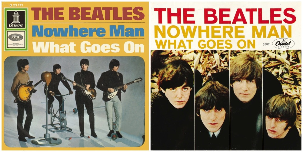 Nowhere Man single sleeves, 1965.
