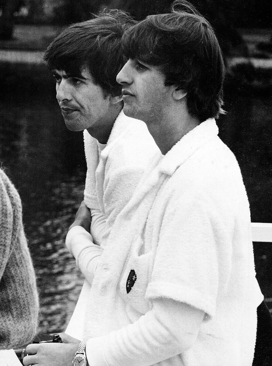 George Harrison and Ringo Starr in Miami, 1964.