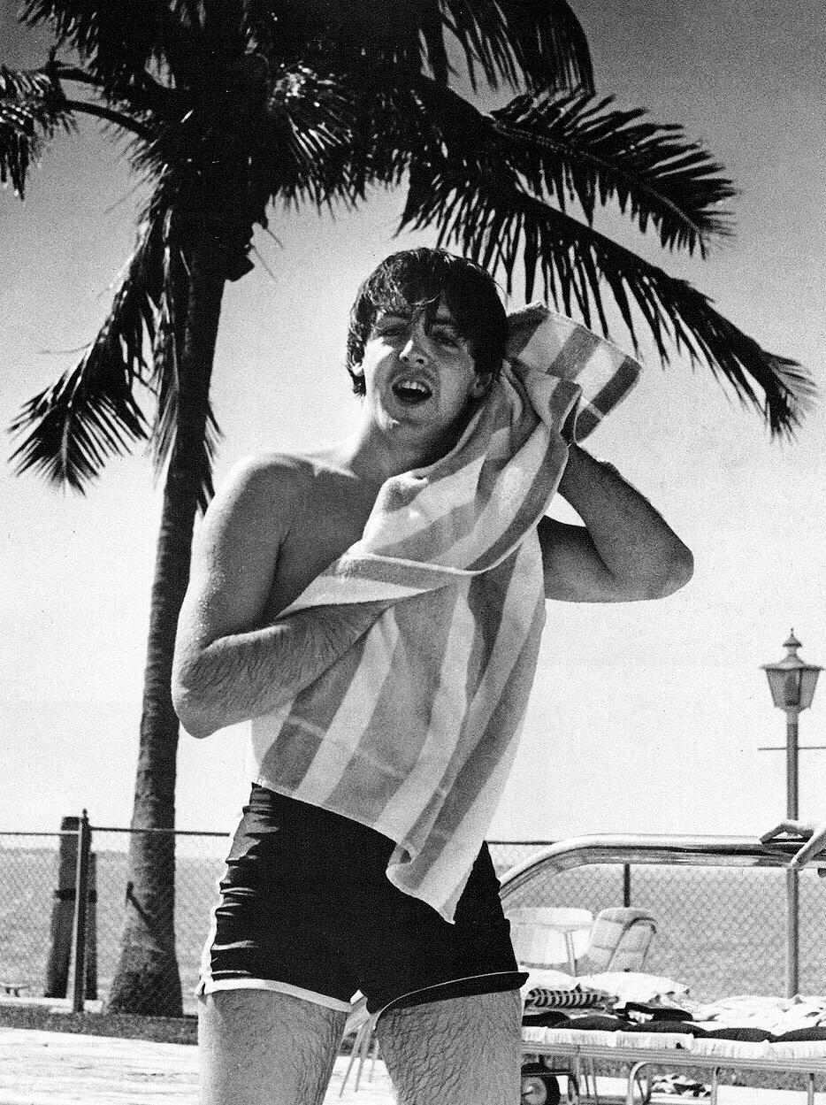 Paul McCartney at Miami Beach, 1964.