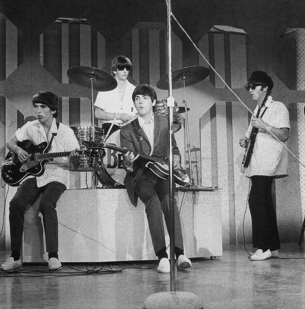 The Beatles rehearsing in Miami, 1964.