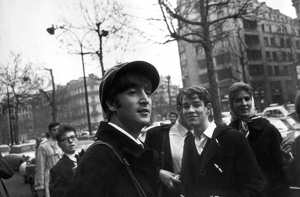 John Lennon in France, 1964.