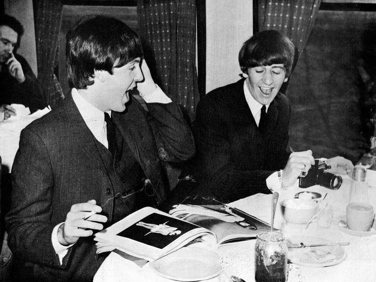 Paul McCartney And Ringo Starr 1964