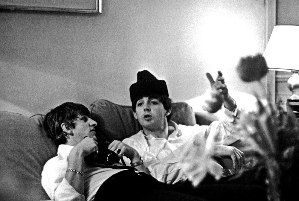 Paul McCartney and Ringo Starr, 1964.