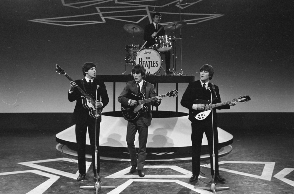 The Beatles in the Netherlands with Jimmie Nicol, 1964.