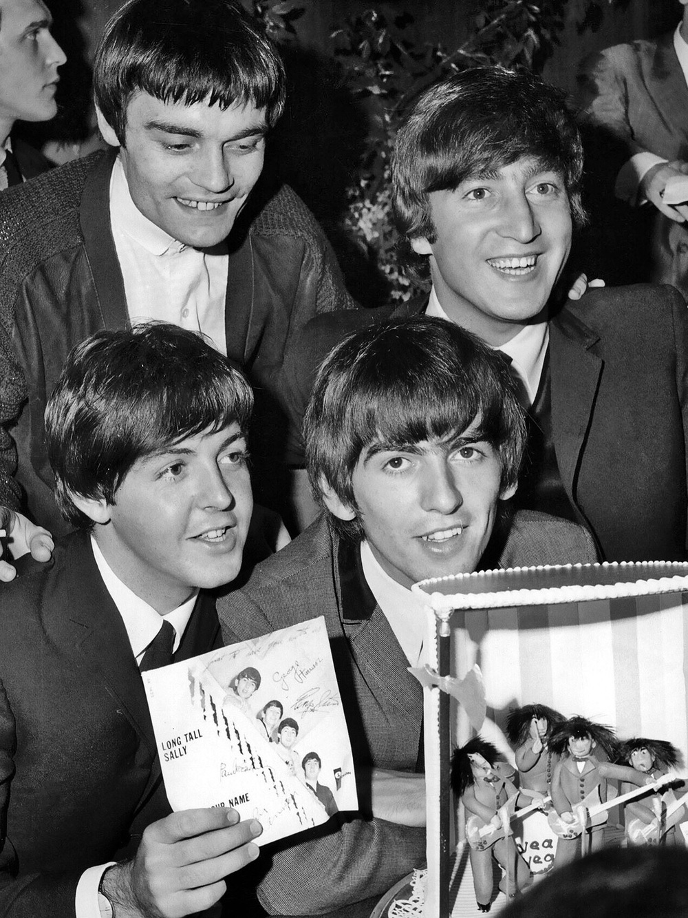 The Beatles with Jimmie Nicol, 1964.