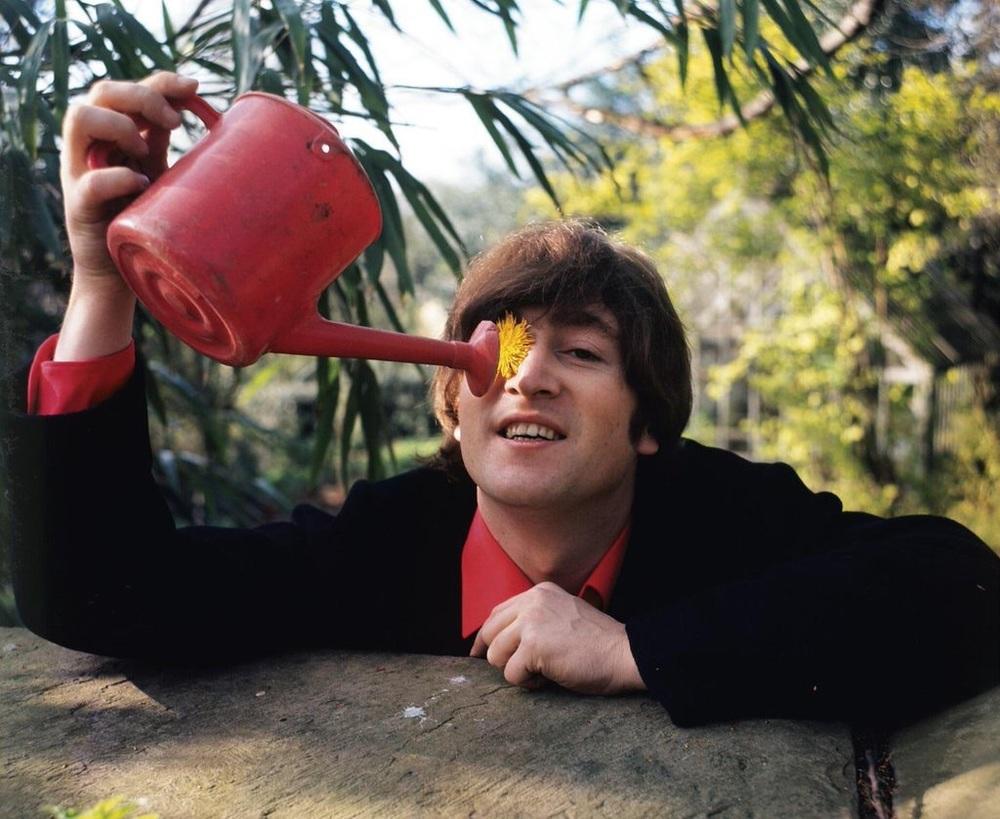 John Lennon at his home in Weybridge, 1965.