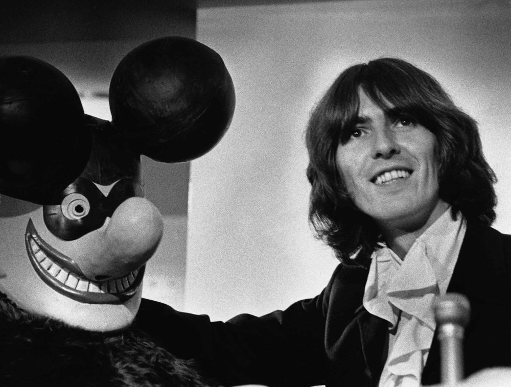 George Harrison promoting Yellow Submarine, 1968.