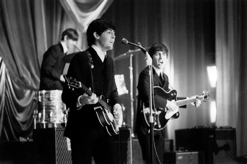 The Beatles on their UK tour of 1963.