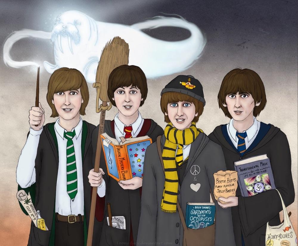 The Beatles at Hogwarts.