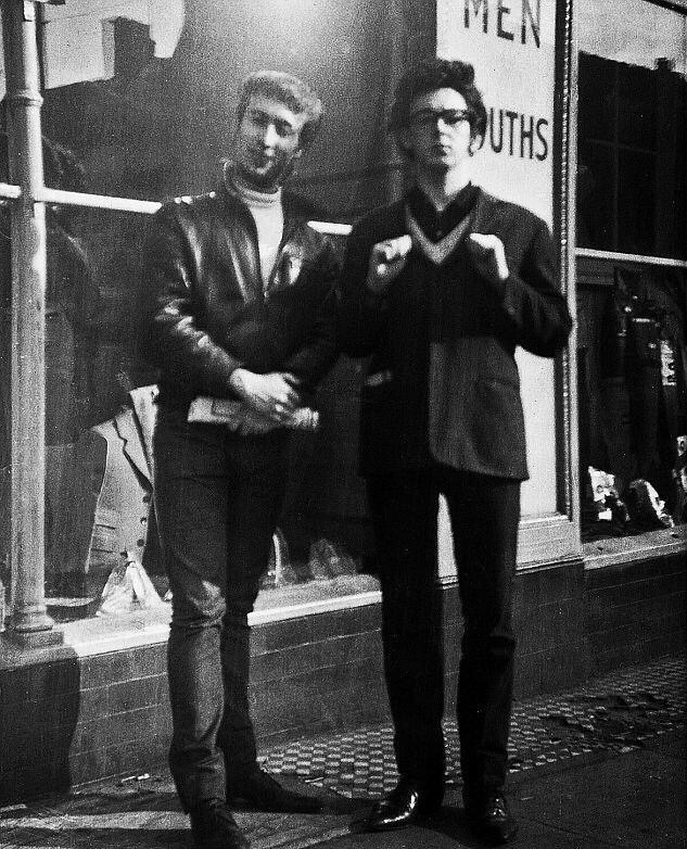 John Lennon and Paul McCartney, circa 1959.
