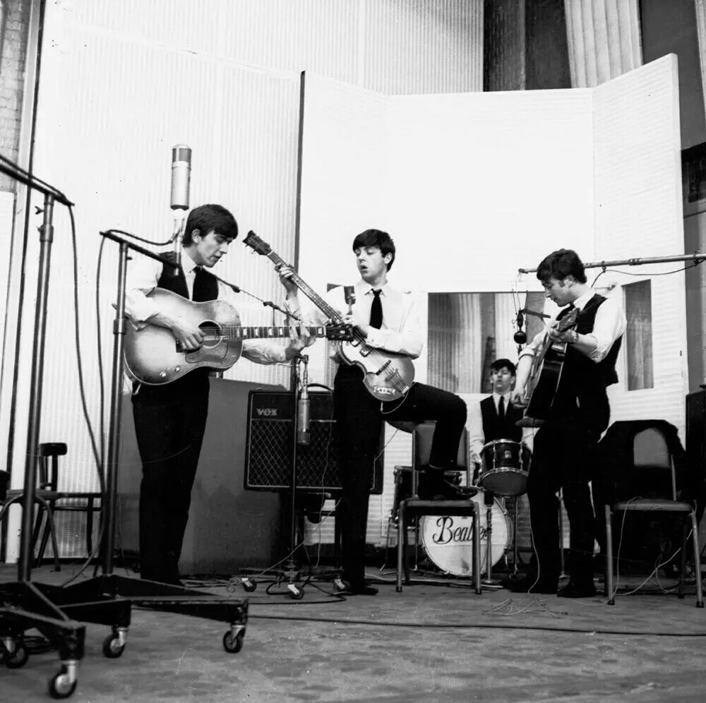 The Beatles at Abbey Road, 1963.