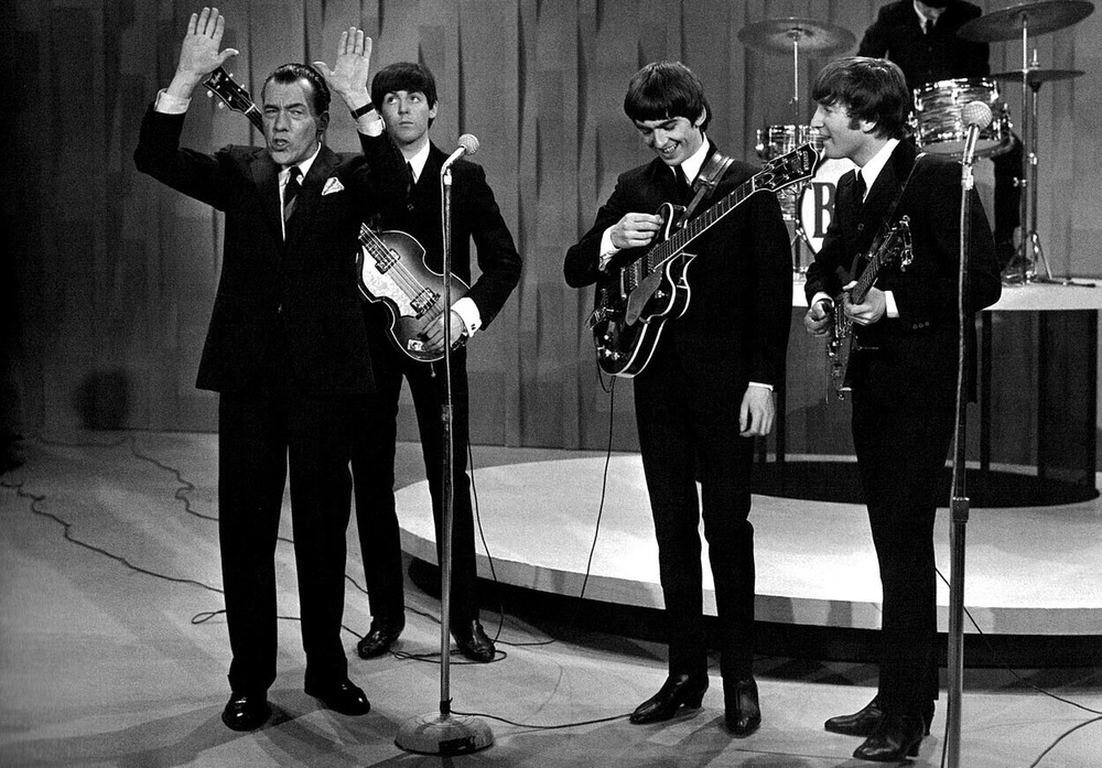 The Beatles with Ed Sullivan, 1964.