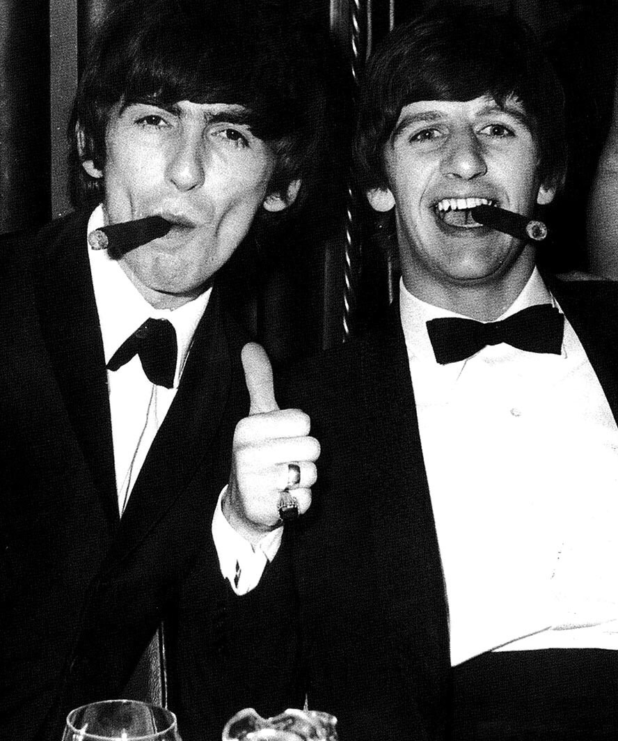 George Harrison and Ringo Starr, 1964.