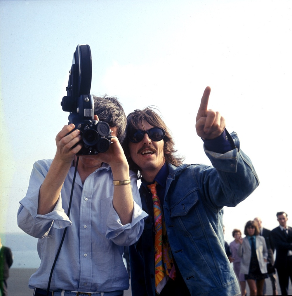 George Harrison on the set of Magical Mystery Tour, 1967.