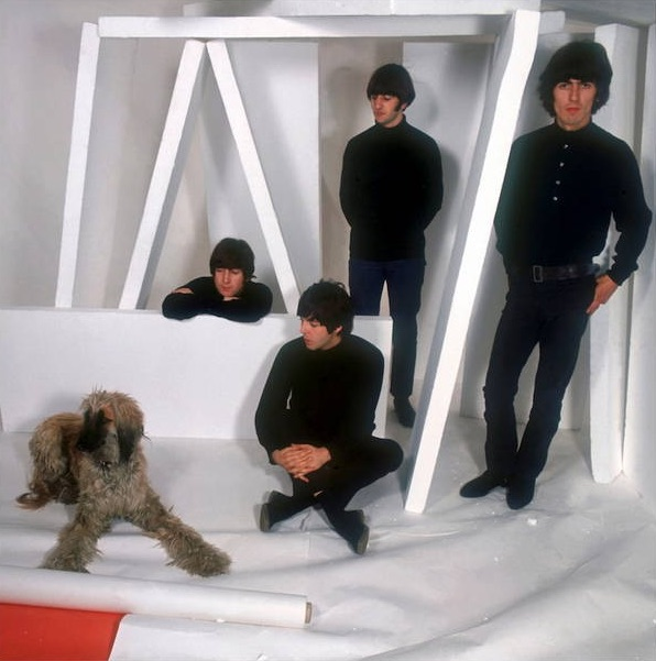 The Beatles at a photo shoot, December 1965.